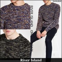 River Island Crew Neck Low Gauge Long Sleeves Vests & Gillets