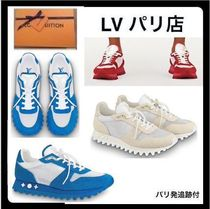 Louis Vuitton Unisex Suede Blended Fabrics Plain Handmade Sneakers