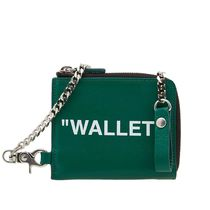 Off-White Leather Folding Wallets