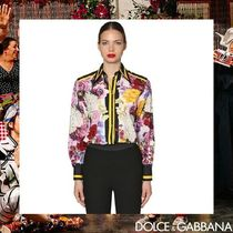 Dolce & Gabbana Flower Patterns Long Sleeves Cotton Medium Elegant Style