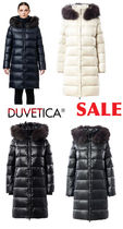 DUVETICA Blended Fabrics Street Style Plain Long Down Jackets