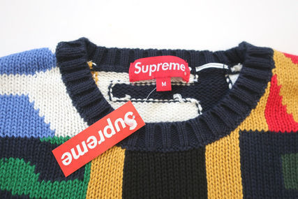 Supreme Sweaters Unisex Street Style Sweaters 2