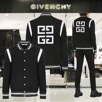 GIVENCHY Short Stripes Wool Blended Fabrics Street Style