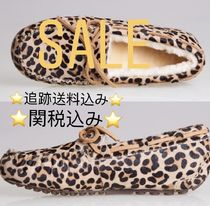 Leopard Patterns Round Toe Casual Style Suede