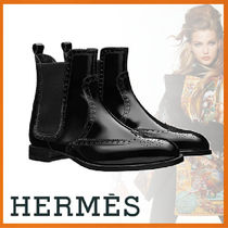 HERMES Leather Ankle & Booties Boots