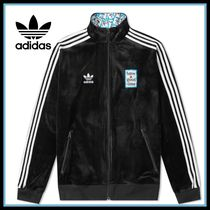 adidas Stripes Velvet Street Style Collaboration Track Jackets