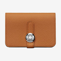 HERMES Dogon Plain Leather Card Holders