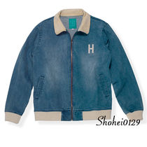 Ron Herman Short Unisex Denim Plain Handmade Souvenir Jackets