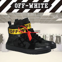 Off-White Plain Leather Sneakers