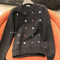 Christian Dior Crew Neck Pullovers Street Style Long Sleeves Cotton