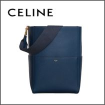25599ee555 CELINE Sangle Calfskin 2WAY Plain Elegant Style Handbags