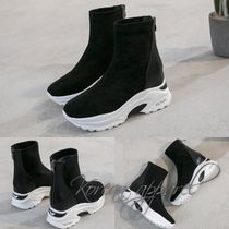 Plain Toe Casual Style Street Style Plain Boots Boots