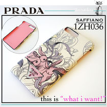 PRADA SAFFIANO LUX Other Animal Patterns Leather Smart Phone Cases