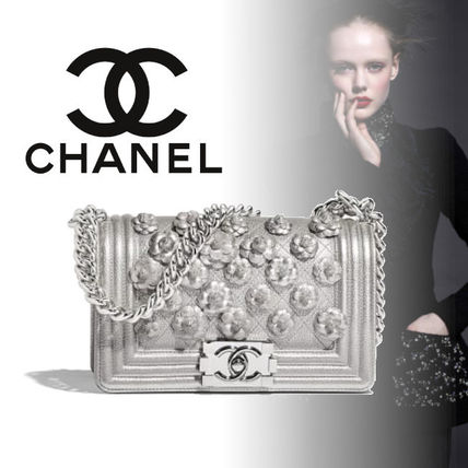 7a442999f6 ... CHANEL Handbags Flower Patterns Calfskin Blended Fabrics 2WAY Chain ...