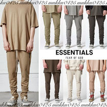 FEAR OF GOD ESSENTIALS Street Style Plain Joggers & Sweatpants