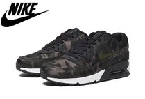 Nike AIR MAX 90 Camouflage Casual Style Unisex Low-Top Sneakers