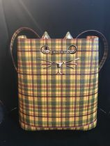 Charlotte Olympia Tartan Casual Style Saffiano Other Animal Patterns Backpacks