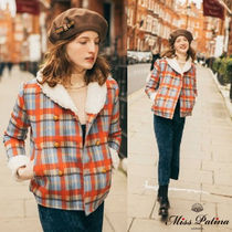 Miss Patina Other Check Patterns Casual Style Wool Street Style Medium