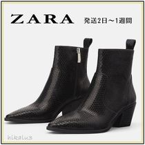 ZARA Other Animal Patterns Block Heels Elegant Style
