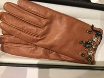 PRADA Leather With Jewels Gloves Gloves