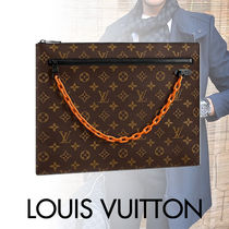 Louis Vuitton MONOGRAM Monogram Canvas Blended Fabrics Street Style A4 Bi-color