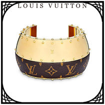 Louis Vuitton Bangles Blended Fabrics Studded With Jewels Elegant Style