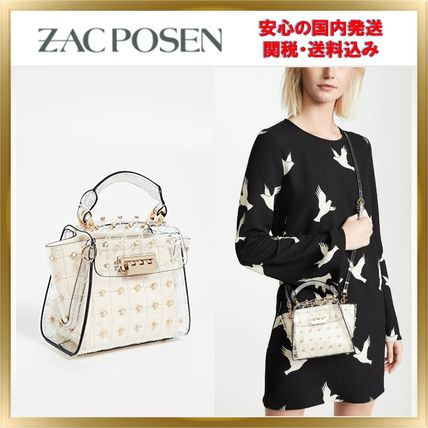 2WAY Plain PVC Clothing Elegant Style Shoulder Bags