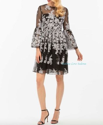 Flower Patterns Medium Lace Dresses