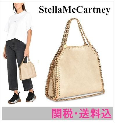 Stella McCartney FALABELLA 2019 SS Faux Fur 2WAY Chain Plain Totes ... 899e238099dad