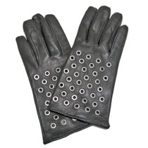 PRADA Studded Plain Leather Leather & Faux Leather Gloves