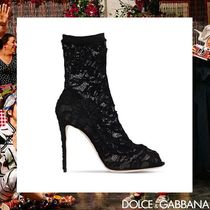 Dolce & Gabbana Open Toe Pin Heels Elegant Style Ankle & Booties Boots