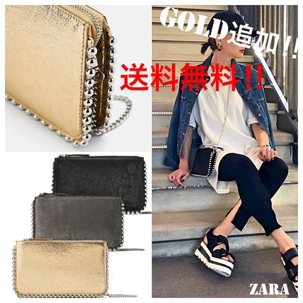 Studded Street Style 2WAY Chain Plain Elegant Style