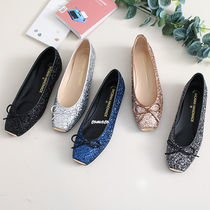Square Toe Casual Style Plain Flats