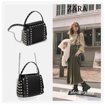 ZARA Casual Style Faux Fur Studded Street Style 2WAY Chain Plain