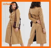 ASOS Casual Style Suede Plain Long Trench Coats