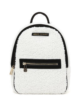 Casual Style Faux Fur Bi-color Plain Backpacks