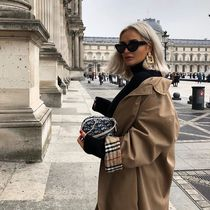 Burberry Street Style Plain Medium Elegant Style Trench Coats