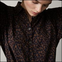 Massimo Dutti Leopard Patterns Long Sleeves Medium Elegant Style