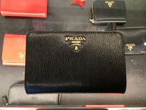 PRADA Leather Folding Wallets