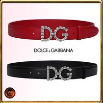 Dolce & Gabbana Casual Style Plain Leather Belts