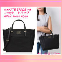 kate spade new york Nylon A4 2WAY Plain Office Style Totes