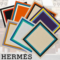HERMES Cashmere Other Animal Patterns Elegant Style Accessories