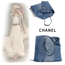 CHANEL Denim Shoppers