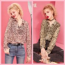 ELF SACK Leopard Patterns Casual Style Shirts & Blouses