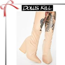 DOLLS KILL Casual Style Plain Ankle & Booties Boots