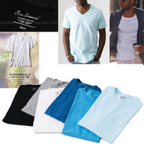 Ron Herman V-Neck Plain Cotton Short Sleeves V-Neck T-Shirts