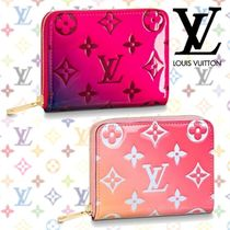 Louis Vuitton ZIPPY COIN PURSE Tropical Patterns Blended Fabrics Leather Coin Purses