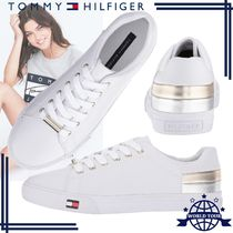 b724a876 Tommy Hilfiger Round Toe Rubber Sole Lace-up Casual Style Faux Fur Plain
