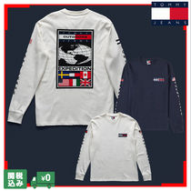 Tommy Hilfiger Crew Neck Unisex Street Style Long Sleeves Cotton