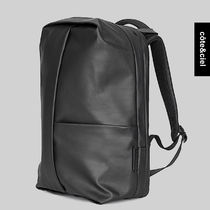 COTE & CIEL Unisex Canvas Street Style Collaboration A4 Backpacks